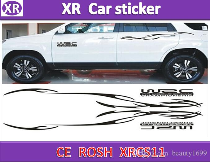 2018 xrcs11 19 100x15cmleft right shiny luxury sctiker decorative garland stickers personalized vehicle car waistline panda black flame stick from