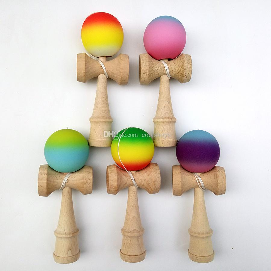 Supply Educational Toy Child Adult 18.5cm Wooden Toy Wooden Toys Juggling Ball Skillful Crack Paint Balance Japaese Traditional Durable Outdoor Fun & Sports Toys & Hobbies