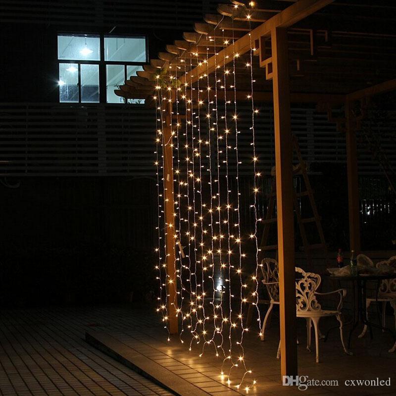 Luz da decoração do casamento 3 Mx3 M 300 leds levou cortina corda luz de fadas 300 lâmpada de natal de natal decoração de festa de casamento em casa