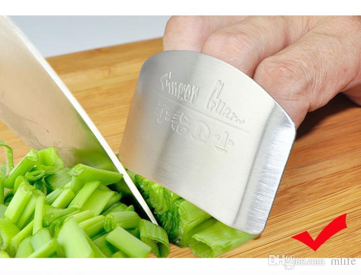 Cozinha Must Have! Cozinhar Ferramentas Dedo aço inoxidável Mão protector de design personalizado Pique Seguro fatia faca