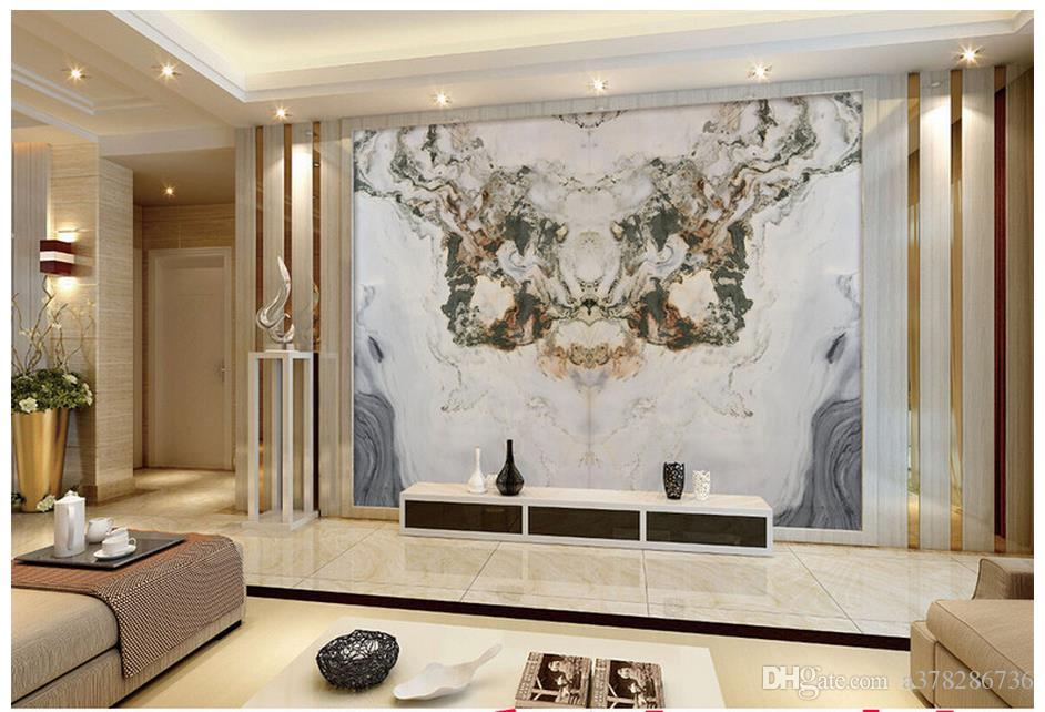 High Quality Custom 3d Wallpaper Murals Jade Marble