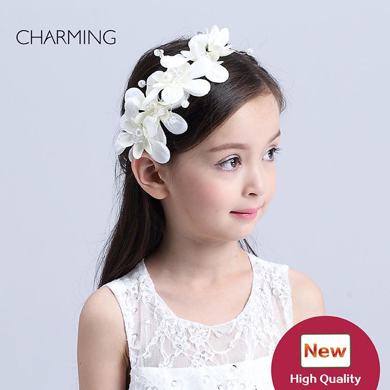 Grosshandel Haar Blumen Hochzeit Kinder Schonheitswettbewerb Und
