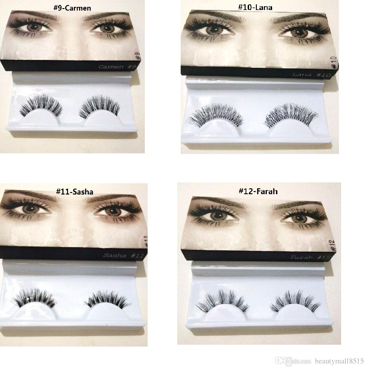 Hot Selling New False Eyelashes 20 types boxed Best Handmade 3D Eye Lash Extensions Natural Synthetic Eyelash Fibers Makeup