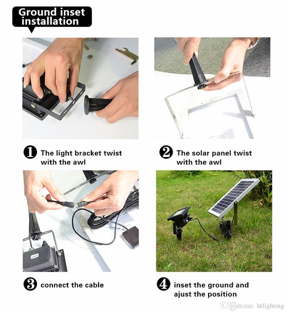 6 V 6 W 12 LEDs 2835 SMD LED Sensor de Movimento Solar Holofote IP65 À Prova D 'Água Ao Ar Livre Do Jardim Da Rua Spot Light