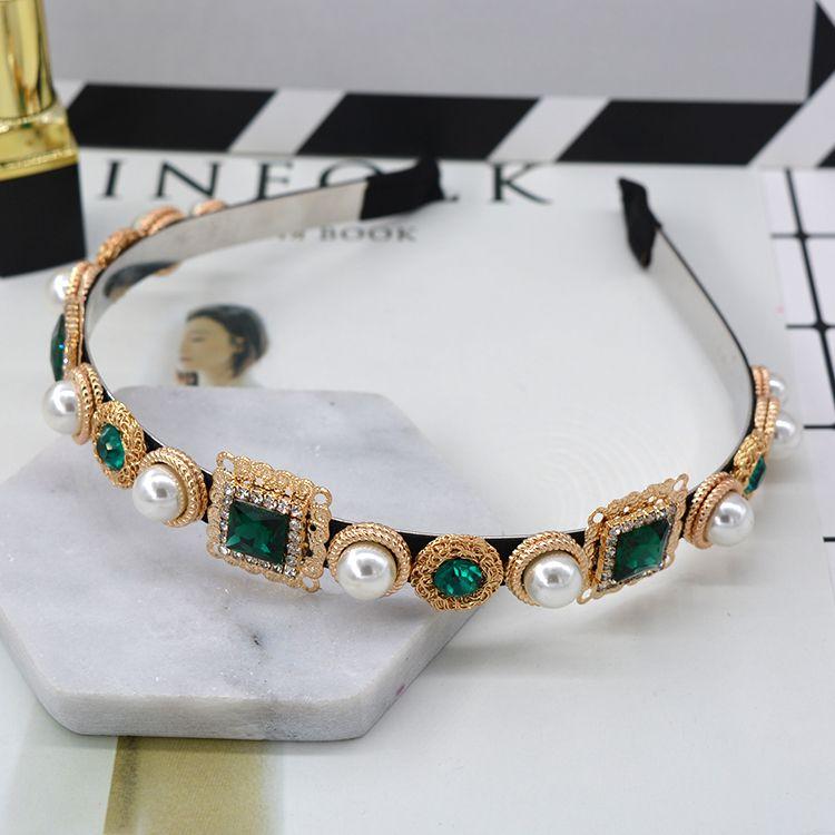 königliches barockes Stirnbandperl-Rhinestonemetallkristallhaarband des freien Verschiffen heißen Verkaufshaares der Luxuxhaarzusatzart und weise blüht Haarbänder