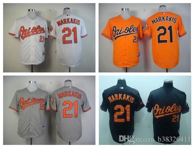 f9f41e779 Baltimore Orioles 21 Nick Markakis Authentic Grey Cool Base Man MLB Jersey  baltimore-orioles-jerseys-cheap-baseball.jpg ...