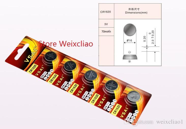 20 pz 1 lotto CR1620 3 V batteria agli ioni di litio li pulsante batteria CR 1620 3 Volt batterie agli ioni di litio VSAI Spedizione Gratuita