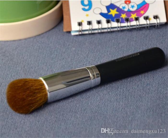 Pinceau cosmétique minéraux avec manche en laine et bois, pinceau à poudre, pinceau à blush, pinceau de maquillage doux A127