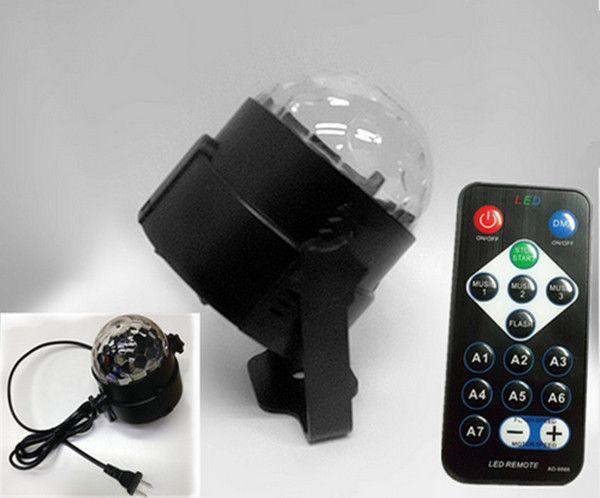 Mini Magic Ball led Stage Lights effect Rotating Effect Bar Disco DJ Party Magic Ball Lamp AC110V220V holiday lighting socket US EU