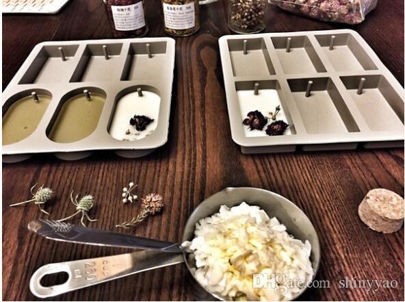 Candele di soia fai-da-te tavolette di cera aromatizzata stampo in silicone Pastiglie di cera aromatica fiori secchi fatti a mano 6 stampi in silicone stampi in silicone