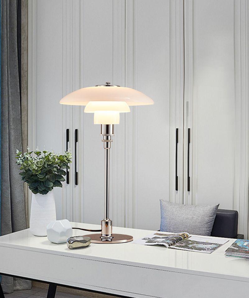 Hot LED Lâmpadas Modernas Pingente Candeeiro de Mesa Candeeiros de Mesa Quarto Escritório Vidro Sala Pingente Montagem de Luz