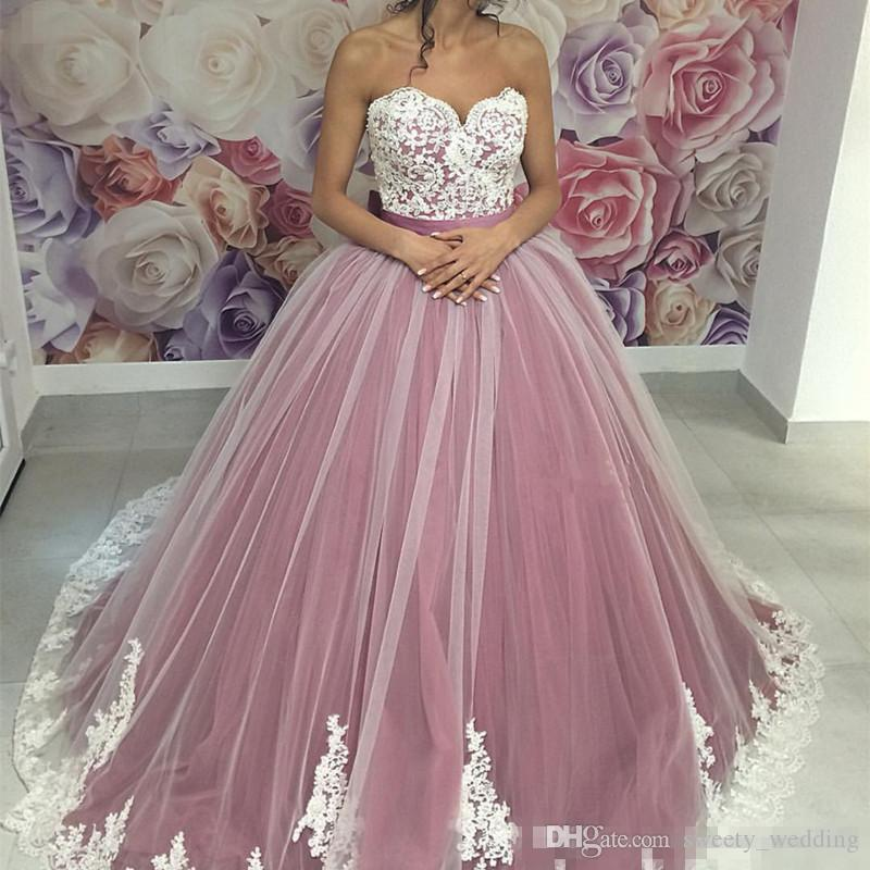 Zarif Mor Quinceanera elbise Abiye Sevgiliye Aplikler Dantel Tatlı 16 Elbise Artı Boyutu Örgün Akşam Özel Pageant Törenlerinde