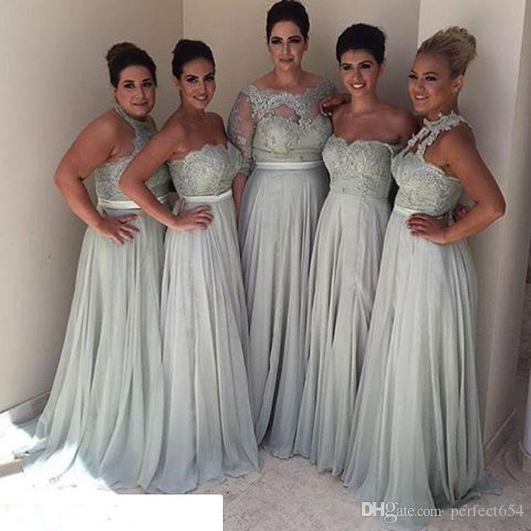 Bridesmaid Dresses Different Styles 2017 Plus Size Vintage