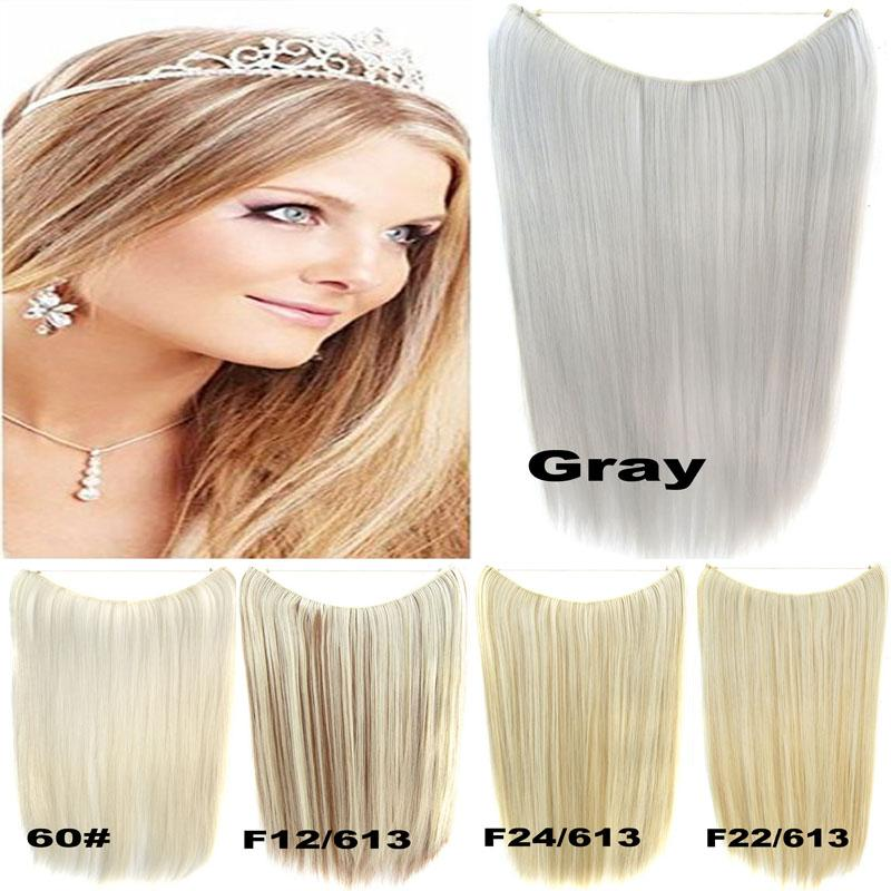 Wholesale 2255cm 50g Flip In Heat Proof Synthetic Hair Extension