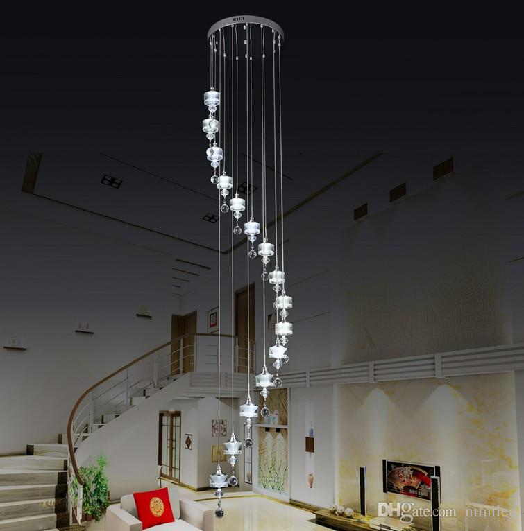 Crystal hanging stair lamp lights villa penthouse floor curtain long crystal hanging stair lamp lights villa penthouse floor curtain long hanging chandelier chandelier llfa chandelier earrings outdoor chandelier from nimiled aloadofball Images