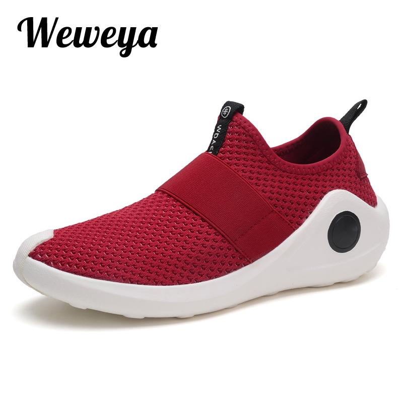 Weweya Mens Woven Running Shoe Athletic Trainer LowTop Sneakers  DTPV7A6TA