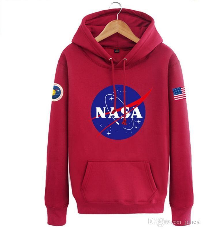 La più nuova Nasa Felpe Felpe moda Bandiera americana sport Cappotti attivi Giacche Felpe con cappuccio Felpe gli uomini e le donne amanti