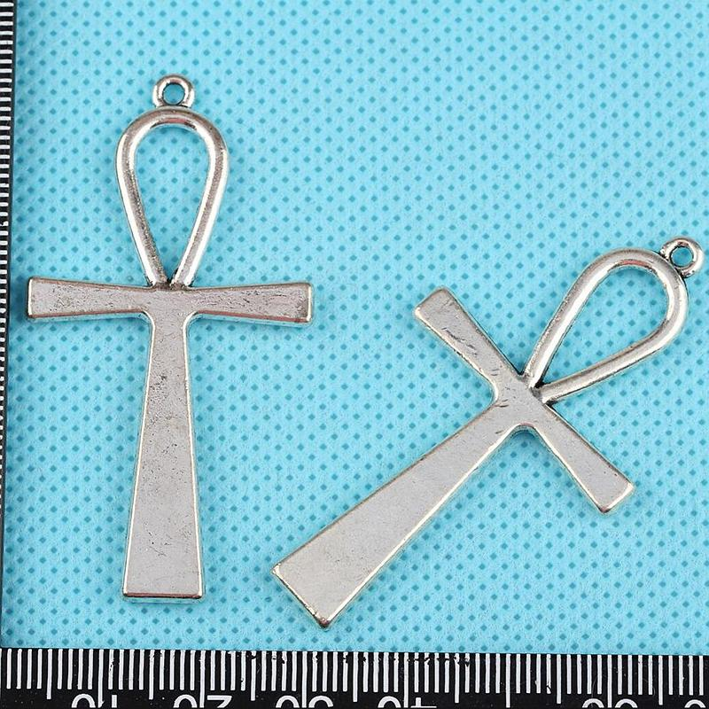 Ankh Cross Large Crucifix Charms Pendants Vintage Silver DIY Jewelry Findings Findings DIY Accessories Handmade HOT Z1228