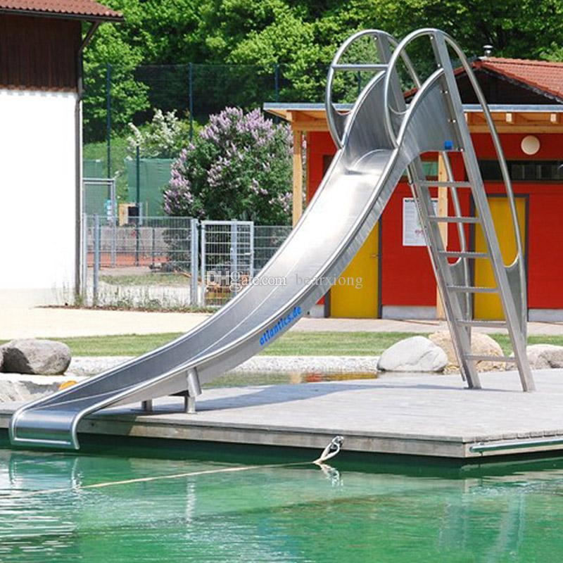 2018 High Quality Stainless Steel Slide Swimming Pool With Ladder For Children And Adults Safe Enviromental From Bearxiong 386935