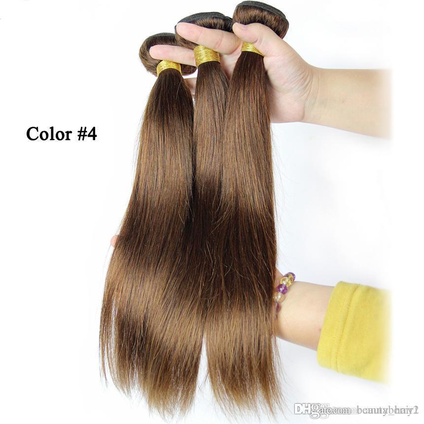 Annaberry 3 Bundle Deals Straight Brazilian Virgin Hair Color 4