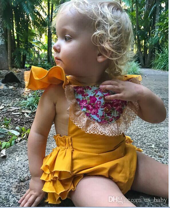 00ad927cca09 Cheap Baby Girls Romper Newborn Lace Bodysuit Cute Body Jumpsuit Sunsuit Flower  Clothes Choose Free for 0-18M
