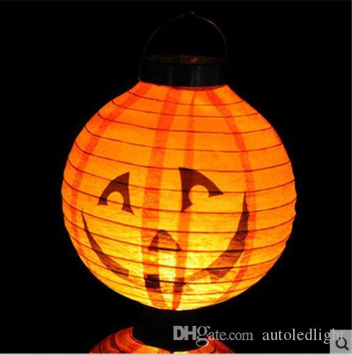Venta al por mayor Good Popular Halloween LED Nightlight Holiday Scary Colorful Hanging Lamp Style Pumpkin Color Yellow night lights