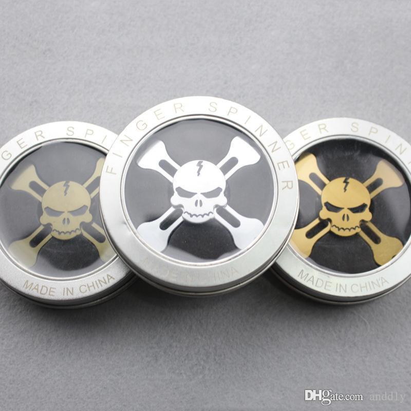 Fid Spinner Skull Torqbar Brass EDC Metal Spinner Tri spinner