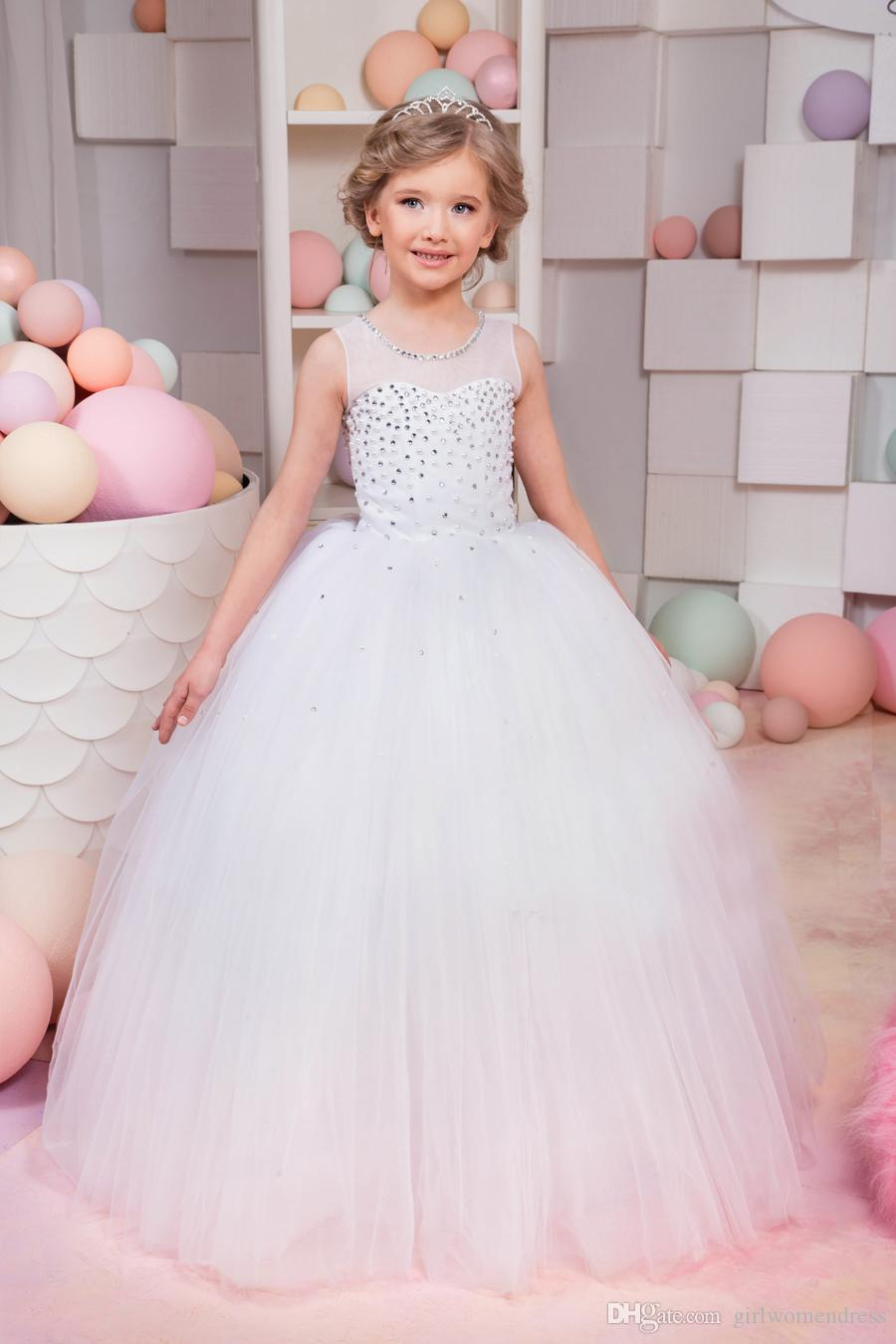 2018 2017 New Sleeveless Toddle Dress Flower Girl Dress Sewed Some ...