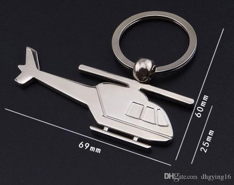 In lega di zinco Aereo portachiavi Mini elicotteri Portachiavi Titolare Aereo Tasto portachiavi forma piano della catena Aereo portachiavi