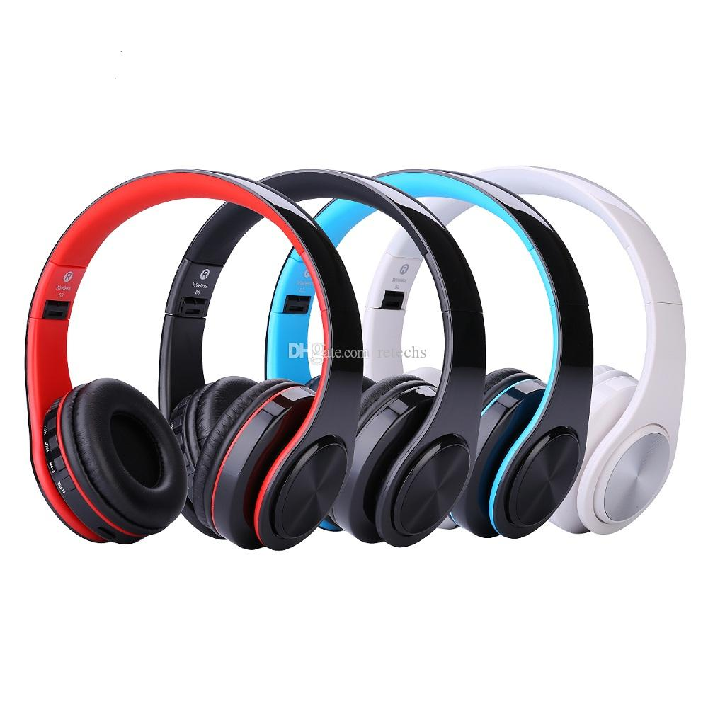 WH812 cuffie senza fili portatile pieghevole Bluetooth V4.0 + EDR Auricolari auricolare senza fili con supporto MP3 Player Micphone mini TF SD Card