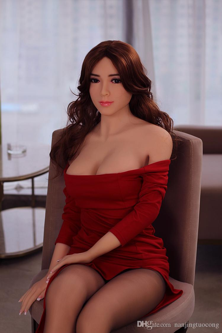 2018 new 158cm Silicone Sex Doll for Men Love Dolls with Bone Structure Top Quality Silicone Oral Breast Vaginal Anal Sex Toys