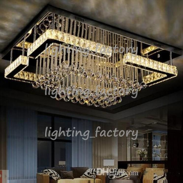 High quality modern led chandelier crystal lamp rectangular high quality modern led chandelier crystal lamp rectangular chandelier light lustre living room lights bathroom chandeliers led chandelier from aloadofball Image collections