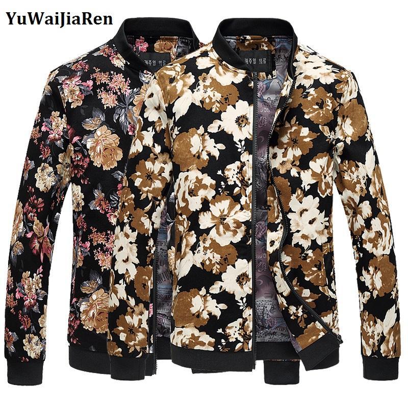 2626cd6c5846 Wholesale- YuWaiJiaRen Jacket Men Casual Men Coat Stand Collar Men ...