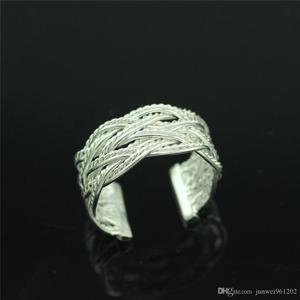 century antique silver rings knitted hand filigree jewelry pin ring ottoman