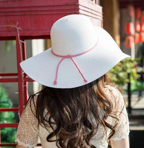 Fashion Folding Church Hat for Women Foldable Floppy Sun Caps Wide Brim Summer Beach Straw Hats Outdoor Elegant Accessories Gift
