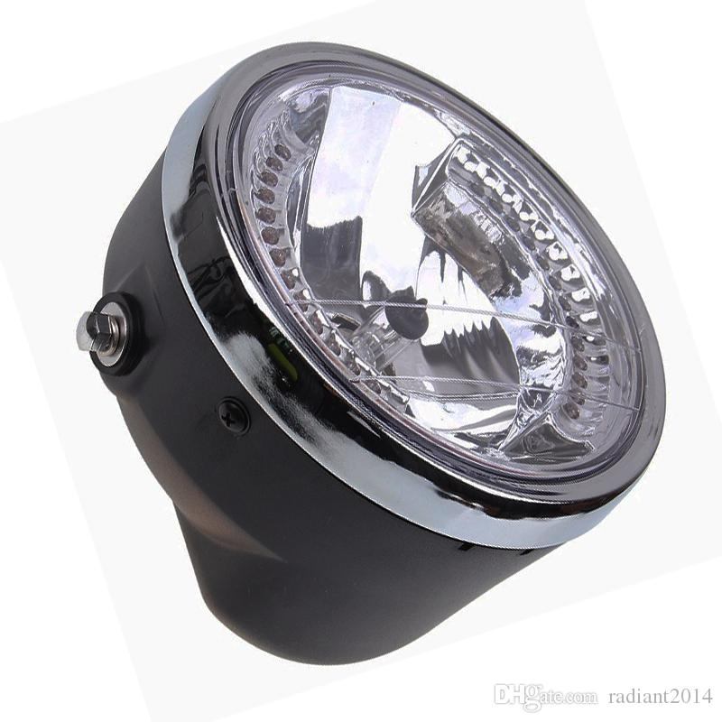 "7.1"" Motorcycle Headlight Amber LED Turn Signal High/Low Beam Cafe Racer Bracket ATV For Suzuki kawasaki Harley Chopper Bobber"