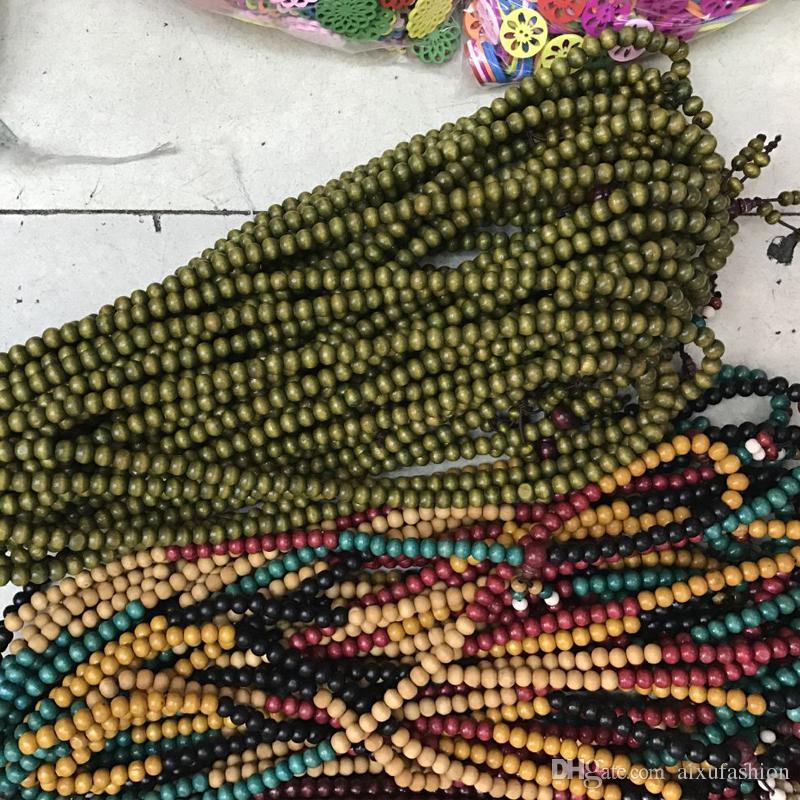 Pulseras con cuentas Joyería étnica Sándalo Buda budista Meditación Prayer Bead Mala Pulsera Rosario de madera 108 Cuentas Pulseras de regalo