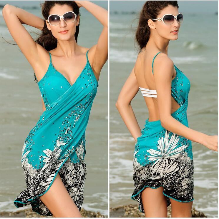 Baño Playa Coverup Cubre Beach Dress Sun Bikini Las Mujeres 001 Mz Falda Proof Vestido De Traje Sarongs pVMUqSz