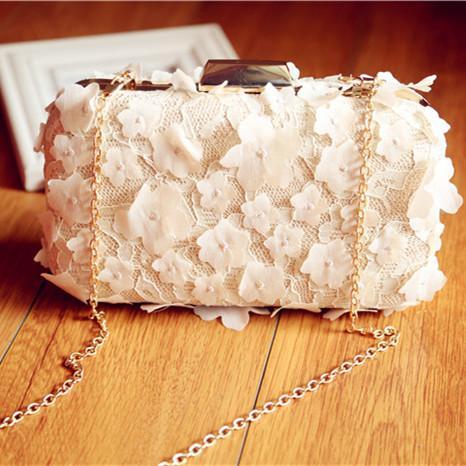 5f1b847dfe2 Wholesale 2017 Handmade Petals Ladies Clutch Handbag Women Evening Bags  Bridal Wedding Day Clutche Purse Bolsas Mujer With Chain Leather Handbags  Uk Grey ...