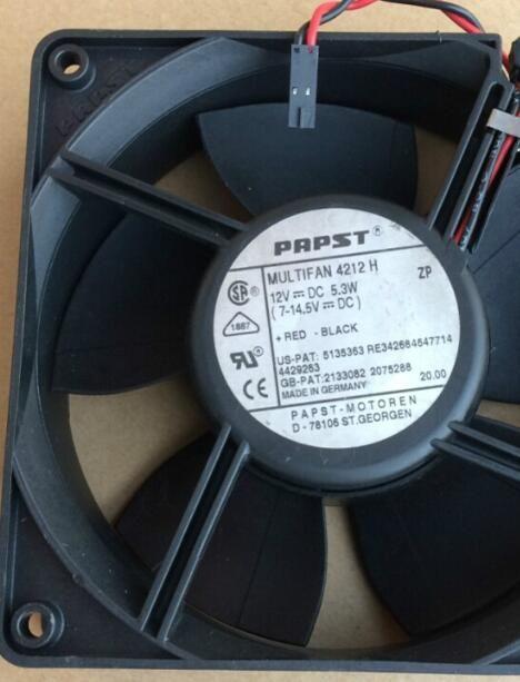 PAPST 12038 4212H 12V 5.3W 12CM 2wire 냉각 팬