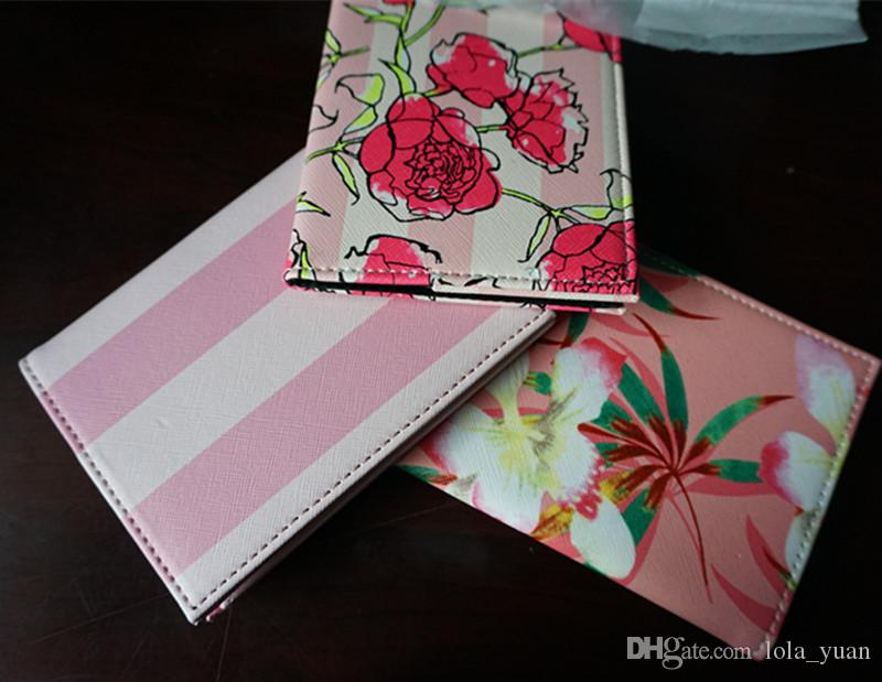 Fashion Pink stripe High Quality Travel Passport Holder Cover ID Card Bag Passport Protective Sleeve Women's Storage Bag VIP gift