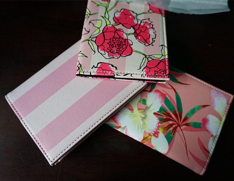 Moda Pink stripe pasaporte de viaje de alta calidad titular de la tarjeta de identificación de la cubierta bolsa de pasaporte funda protectora de almacenamiento de la mujer bolso VIP regalo es