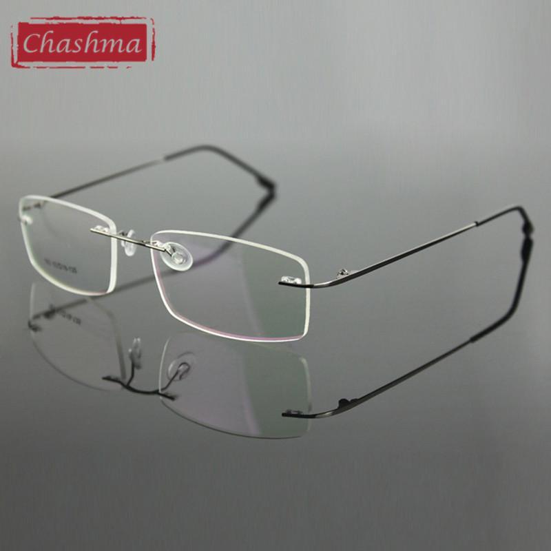 481bbc825400 2019 Wholesale Chashma Rimless Titanium Alloy Ultra Light Weight Myopia Glasses  Frame Optical Eye Glasses For Men From Goodlines