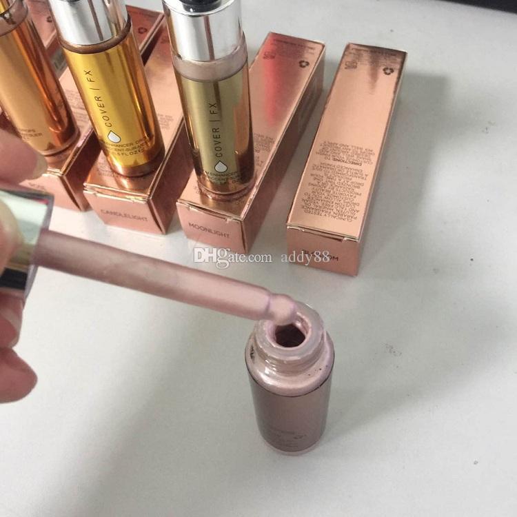 2017 최신 커버 FX 사용자 정의 증강 인자 얼굴 형광 파우더 메이크업 글로우 6 색 15ml 액체 형광펜 화장품 무료 배송