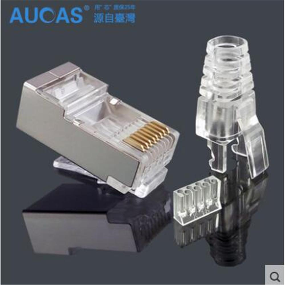 Wholesale High Quality Shielded Rj45 Connector Cat6 Plug Wiring Sockets Network Cable Ftp Three Pcs Suit Connectors And Cables