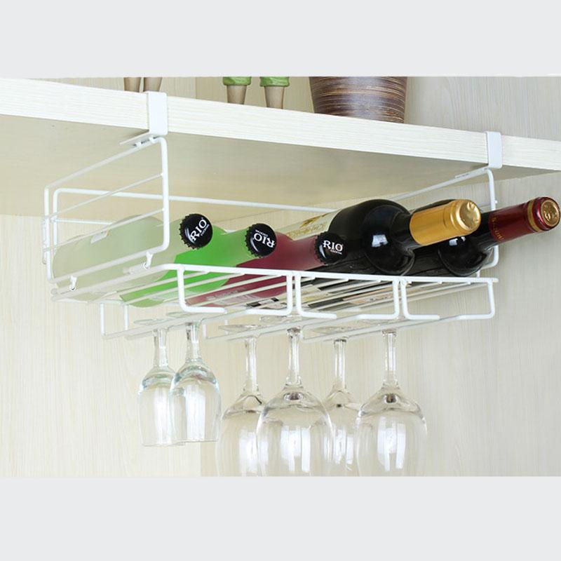 new wine cup storage rack hanging wine glass holder white champagne stemware holder fashion bar glass bottle rack organizer online with 3621piece on - Hanging Wine Glass Rack