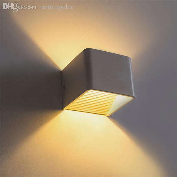2018 new 7w modern led wall light up down cube indoor outdoor see larger image mozeypictures Choice Image