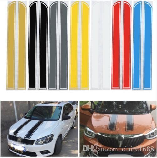 Universal 130 Cm X 24 Cm Auto Hood Zerkratzt Aufkleber Motorabdeckung Styling Reflektierende Aufkleber Streifen Vinyl Diy Dekoration Pvc