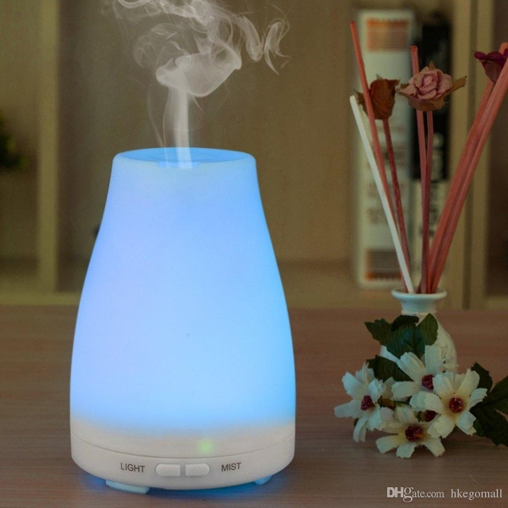 100ml Ultrasonic Humidifier Aromatherapy Oil Diffuser Cool Mist With Car Vehicle Aromaterapi Parfum Mobil Color Changing Led Essential Waterless Auto Shut Off