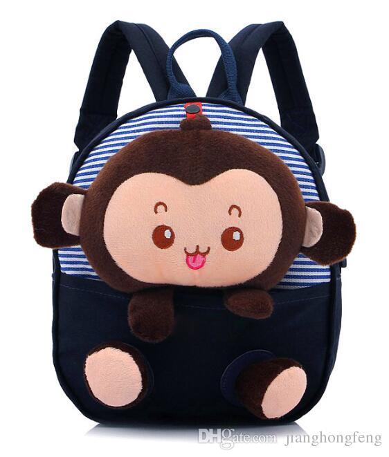 Novo Coreano Macaco Pequeno Dos Desenhos Animados Crianças Mochilas Crianças Acessórios Do Jardim de Infância Sacos de Bebê Bonito Adorável Mochila Canvas Meninos Meninas Saco de Escola